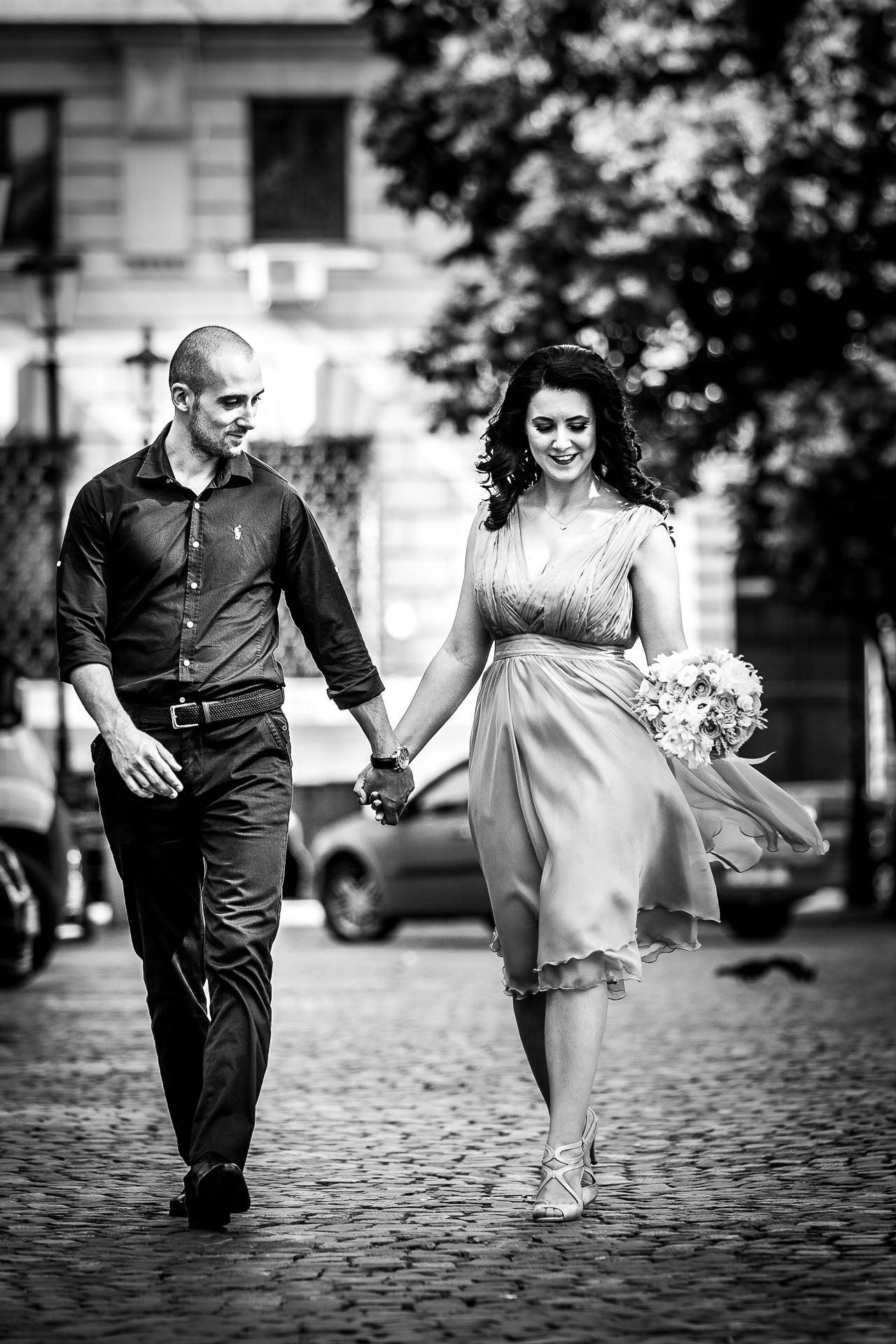 Fotografie sedinta foto de logodna Centrul Vechi Bucuresti | Alina si Razvan | 02
