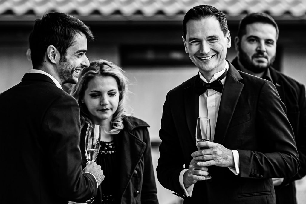 Fotografie de nunta pe terasa - Club Snagov - Ana-Maria si Dorin